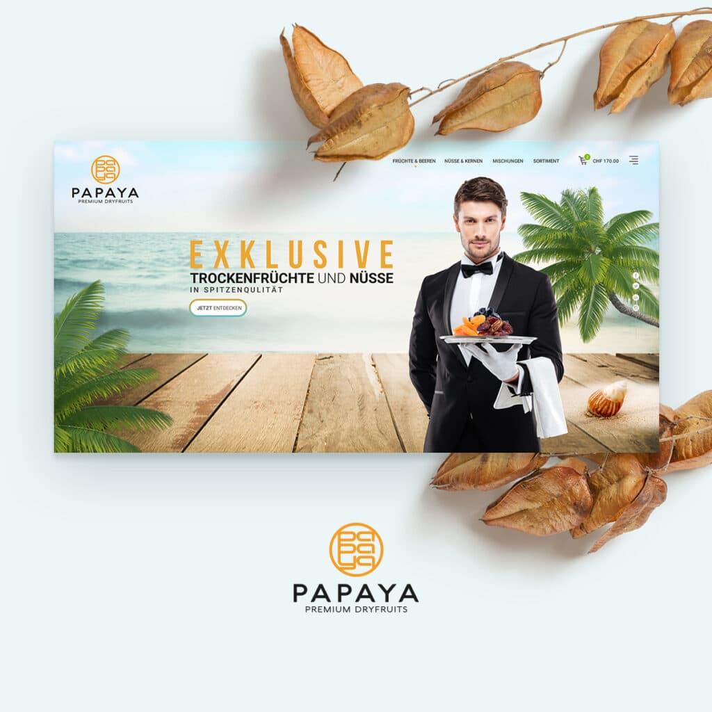 Papaya Dry Fruits Mockup