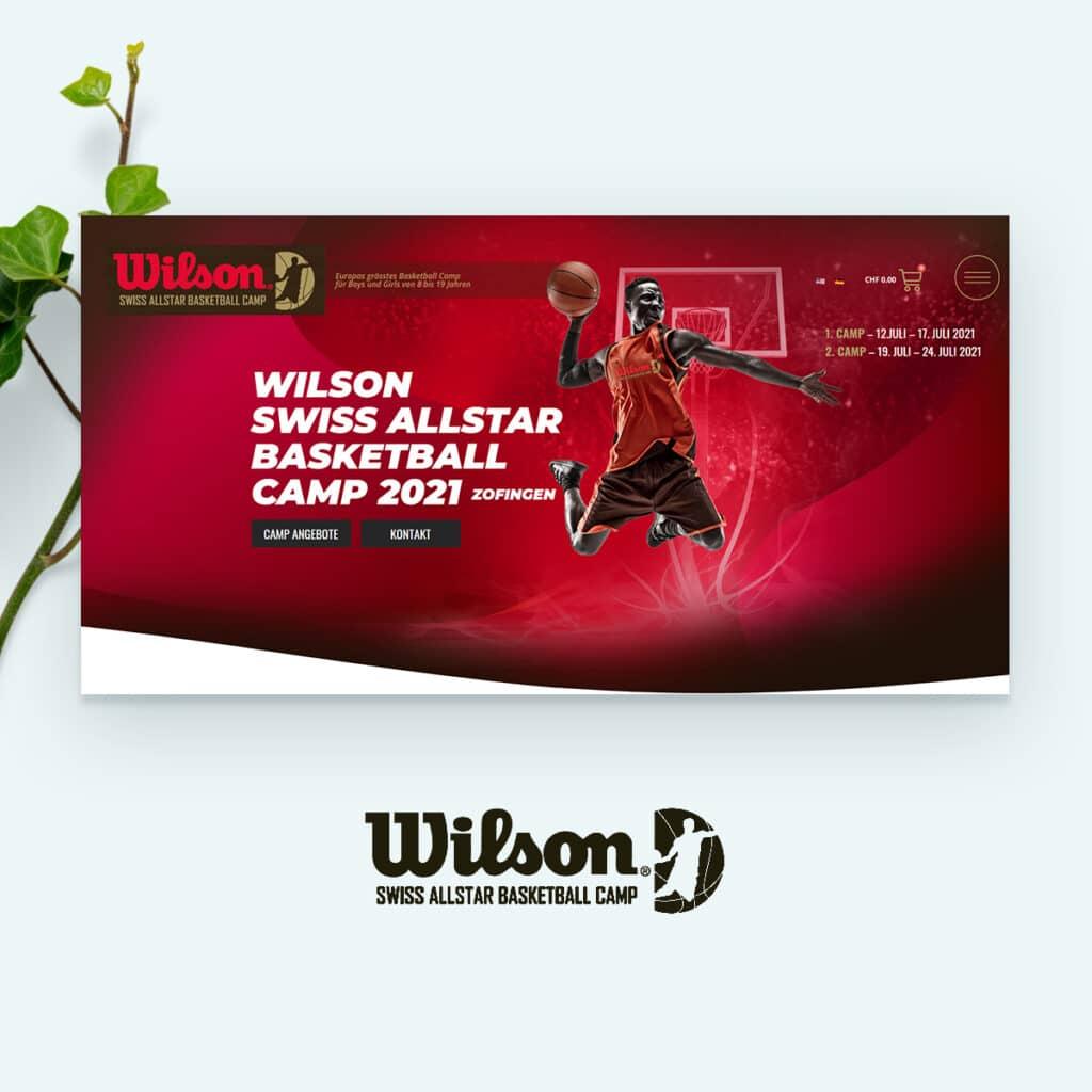 Wilson Swiss Basketball Camp Mockup